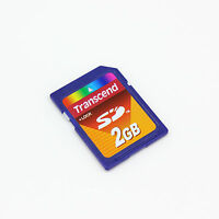 Original Transcend 2 GB SD Card non HC, SD Memory Card 2G for old cameras