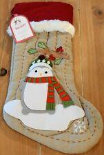 New Pottery Barn Kids Woodland PENGUIN Christmas Holiday Stocking