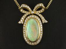 Sehr schönes Opal Brillant Collier ca. 9,33ct   750/- Gelbgold