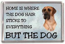 "Great Dane Dog Fridge Magnet ""Home is Where""  by Starprint"