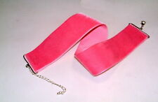 breites Samthalsband,,Choker   36 mm Rockabilly,  pink