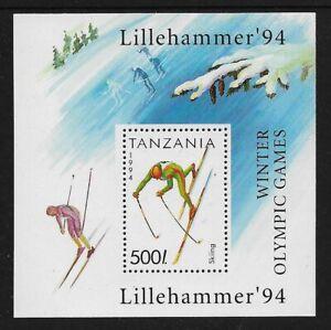 TANZANIA 1994 Winter Olympic Games Lillehammer, mint mini sheet, MNH MUH