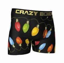 CRAZY BOXER Men's Happy Holidays Xmas Light String Boxer S Briefs Underwear NEW