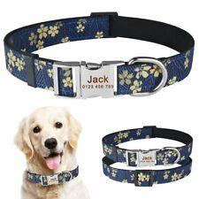Personalized Dog Collar Nylon ID Name Custom Engraved Small Medium Large Dogs