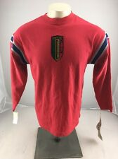 NWT Vintage 80-90s Esprit TEENS red long sleeve shirt size S-M casual stripes