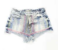 Womens Topshop Blue Denim Shorts Size 10/L2