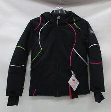 Spyder Girls Tresh Ski Jacket 239010 Black/White/Flash Green Size 10