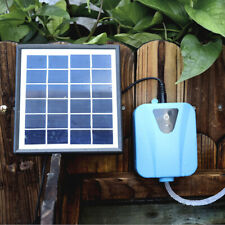 Solar Power Or USB DC Fish Tank Aquarium Oxygen Fish Air Pump Pond Aerator E1H3