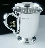 Silver Christening Mug Tankard (cased), Ernest Druiff & Co, Birmingham 1919