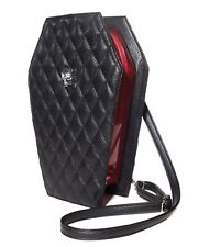 Lux de Ville Elvira Coffin Backpack Black Venom Red Sparkle Goth Punk CL666BVRS