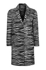 BNWT TOPSHOP Monochrome Zebra Print Coat UK 14
