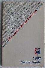 USA Amateur Boxing Federation 1982 Media Guide USA-ABF