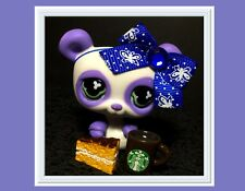 Littlest Pet Shop Panda Bear Monopoly No # White and Purple STARBUCKS