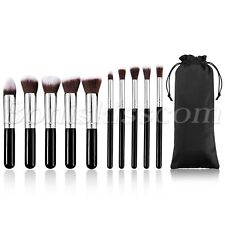 10pcs Cosmetics Foundation Blending Blush Eyeliner Face Powder Makeup Brush Set