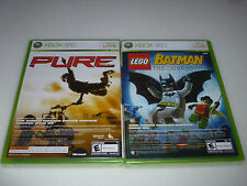 BRAND NEW FACTORY SEALED XBOX 360 VIDEO GAME LEGO BATMAN PURE 2 IN 1 NFS