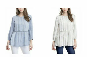 NWT! Fever Ladies' 3/4 Sleeve Boho Peasant Blouse Co & Pic Sz S- 2XL S25