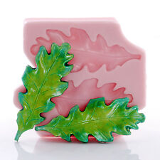 Oak Leaf Silicone Mold Creates Two Large Leaves from Fondant Resin Clay (740)