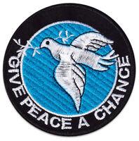 Welt-Frieden Friedens-Taube Peace Symbol Antifa Zeichen Aufnäher Patch Aufbügler