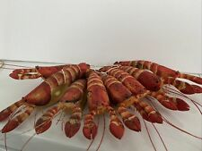 New listing Hand Painted Shrimp Lobster Napkin Holders Set Of 8 Claw-Tail 7�long