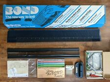1980's Bond Manual Knitting Machine w/ Instructions & Patterns - Made In Britain
