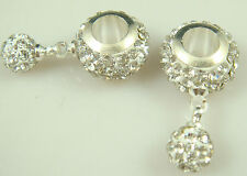 Gorgeous Czech Crystals Dangle Bead fit European Charm Bracelet Earrings 5M3