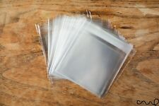 """50 x Clear Small Cellophane OPP Plastic Bag Self Adhesive Packing 9x10cm 3.5""""x4"""""""