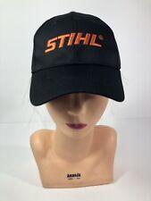 Stihl Power Equipment Black And Orange Snapback Hat Cap OSFM VTG Hat