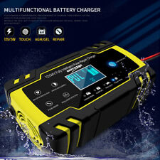 Touch Screen 8 Amp Intelligent Car Battery Charger Pulse Repair 12V/24V AGM/GEL