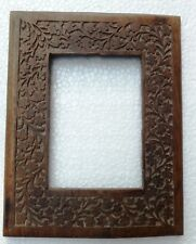 Wooden Photo Frame Vintage Old Picture Frame Hand Carved Collectible Art