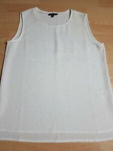 KENNETH COLE White Sleeveless Top Size 12