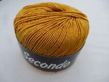 Lana Grossa SECONDO 50g ELEGANTE Superficie Satinada Color 058 Amarillo Dorado