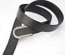 Kenneth brownne Para Hombre Black Belt-Plata diseñador Hebilla-Nuevo