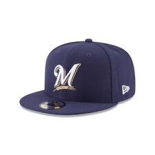 Milwaukee Brewers MLB New Era Team Color 9FIFTY Basic Snapback Hat - Blue