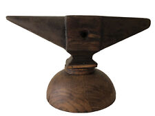 Antique Industrial Wood Foundry Pattern Model Anvil - Old School Foundry Molding