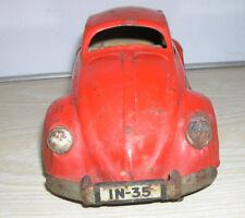 JNF - VW Kdf Käfer IN-35 Brezel Blechauto in rot, mit Uhrwerk - 30er/40er Jahre
