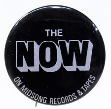 """1970's The Now on Midsong Records & Tapes 1 3/8"""" pinback button ^"""