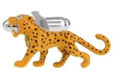 Big Cat Cheetah Jaguar Cufflinks Wedding Fancy Gift Box & Polishing Cloth