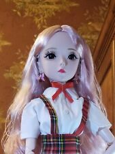 """New """"Pink Rose"""" 1/3 BJD w/ Makeup, Rooted Hair*Outfit*Shoes*Earrings"""