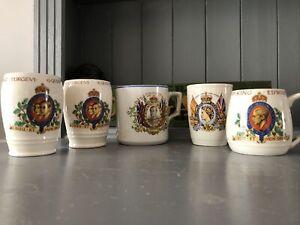 Job Lot of Royal Family Commemorative Memorabilia Mugs / Cups