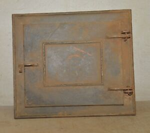 Heavy cast iron door & frame pizza oven outdoor stove clean out panel cover