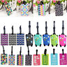 Travel Luggage Bag Tag Name Address ID Label Silicone Suitcase Baggage Tags 1pc