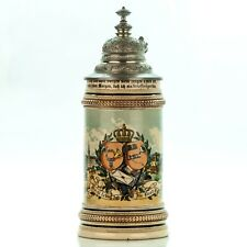 Occupational Beer Stein - Postman | ca. 1900 Antique German Lidded Regimental