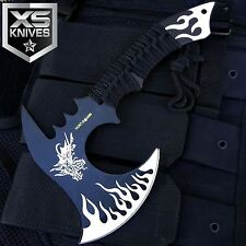 """11"""" Hunt-Down WHITE DRAGON Axe Outdoor Hunting Camping SURVIVAL Steel Axe"""