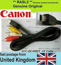 Original Genuino Canon Digital Cámara Para Tv Av Audio Video Cable AVC-DC400ST