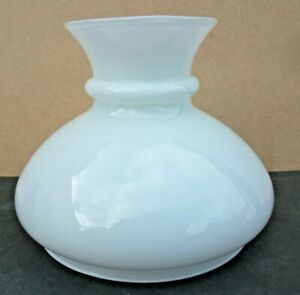 Vintage Milk Glass Lamp Shade. Oil Lamp Style.
