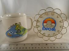 EXPO 86 1986 WORLD EXPOSITION VANCOUVER BRITISH COLUMBIA CANADA MUG PLATE