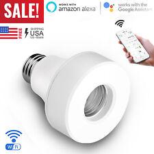 E27/ E26 WiFi Smart Light Bulb Socket Adapter Lamp Holder For Google Home Alexa