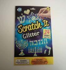 Scratch It Glitter Kids Hanukkah Arts N Crafts Game Gift