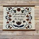 Vintage French Proverb Speak Kindly Wall Hanging