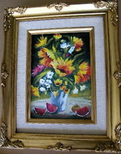 "Framed Oil Painting ""Floral-N28"" 9x11 in."